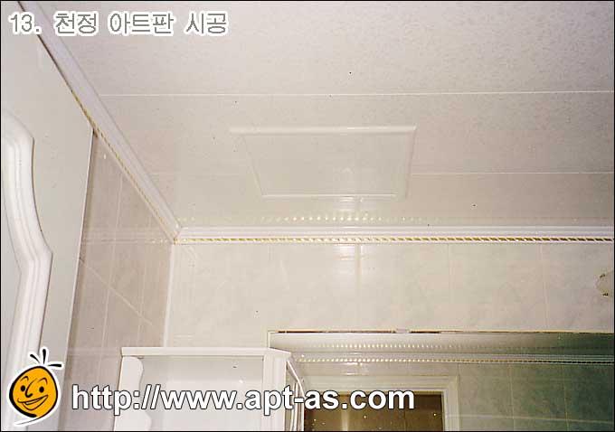 욕실 천정 아트판 시공